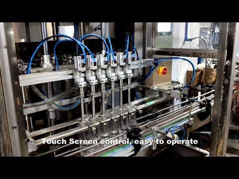 linha automática automática da máquina da máquina de enchimento de enchimento do cloro detergente de 6 cabeças