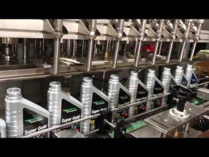 linha automática completa do equipamento de enchimento de óleo lubrificante a óleo lubrificante de pistão
