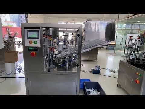 máquina de vedação de tubo de plástico automático para creme dental creme para as mãos