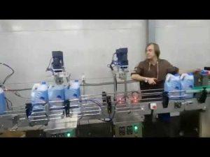 Linha de máquina de enchimento de lixívia líquida desinfetante anti corrosivo automático para banheiro
