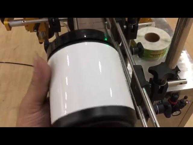 Frasco de vidro para animais de estimação lata de alumínio e máquina de etiquetas de etiqueta de garrafa