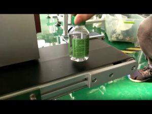máquina de etiquetas para etiquetas de mesa para garrafas de água plásticas