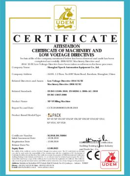 Certificado CE de máquina de enchimento