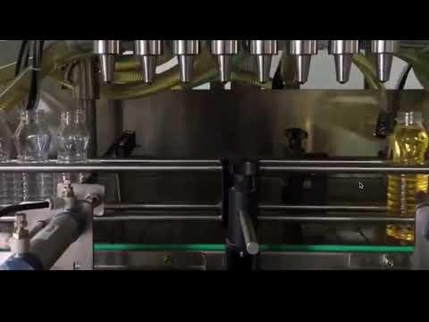 óleo de cozinha automático, máquina tampando de enchimento de óleo de palma