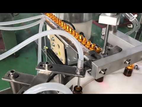 Conta-gotas automático de vidro 5-30 ml pequena garrafa colírio frasco e máquina de tamponamento de enchimento líquido