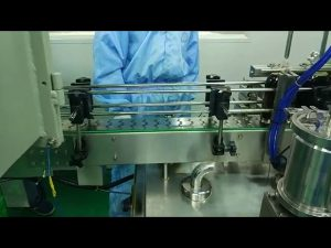 30 ml a 100 ml de faixa dupla máquina de enchimento e parafusamento para garrafa redonda
