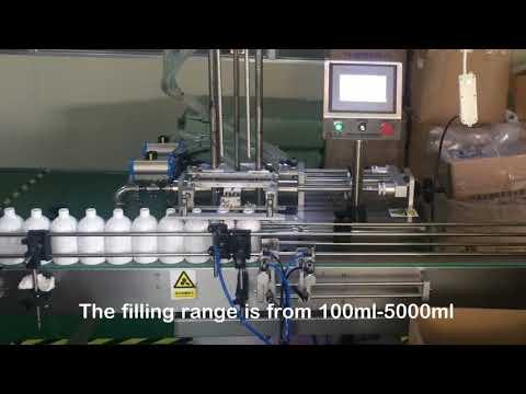 máquina de enchimento automática da garrafa do servo do champô de 2 bocais