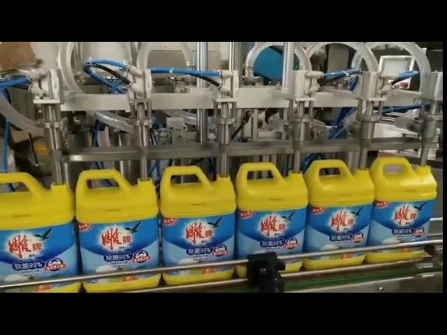 máquina de enchimento automática da garrafa do champô do detergente para a roupa 8 cabeças