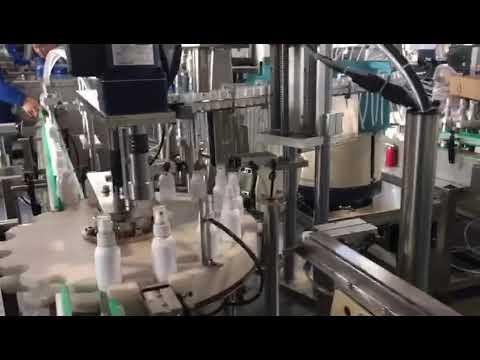 máquina de enchimento líquida do desinfetante, máquina de enchimento dos desinfetantes do etanol