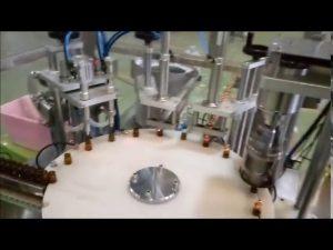 enchimento automático da garrafa líquida de 10ml e que obstrui a máquina tampando