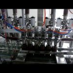 Linear automática 4 cabeças de pistão garrafa de ketchup viscosa molho líquido máquina de embalagem