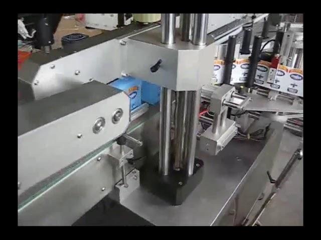 máquina de etiquetas automática da etiqueta da garrafa dos lados dobro para a garrafa redonda