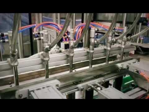 detergente linear de pistão automático, shampoo, máquina de engarrafamento de líquido viscoso de óleo lubrificante