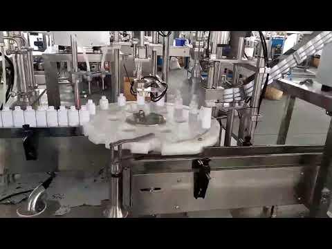 máquina tampando de enchimento plástica médica dos cosméticos
