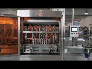 máquina de enchimento servo automática completa de molho de tomate