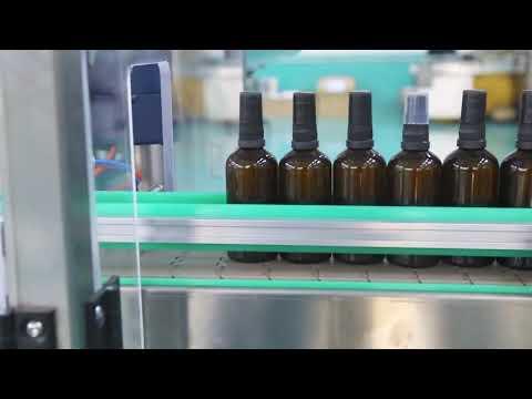 plataforma de aço inoxidável do motor de alta precisão máquina de enchimento de garrafas de óleo cbd