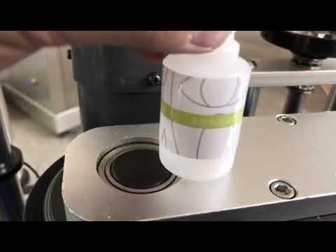 máquina de etiquetas automática pequena da etiqueta da garrafa redonda do desktop