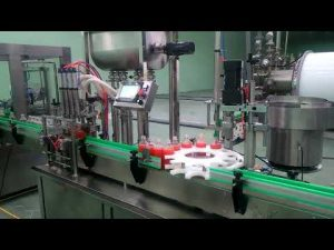 Enchimento automático de 4 cabeças e máquina tampadora