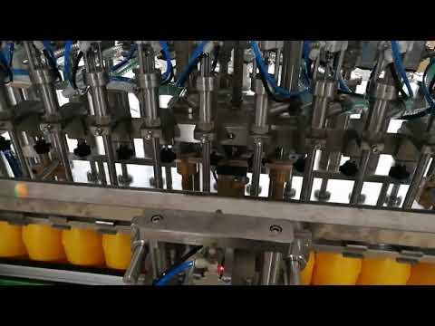 Máquina de engarrafamento automática de 12 cabeças para cosméticos de molho de óleos de ketchup