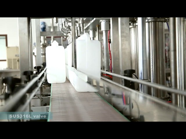máquina de rotulagem automática de tampas de enchimento de óleo lubrificante