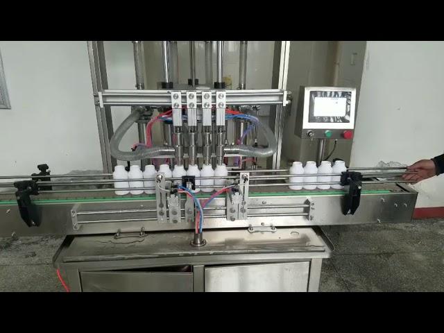 máquina de enchimento de garrafa de pasta líquida viscosa automática para sabonete líquido, loção para o corpo, shampoo