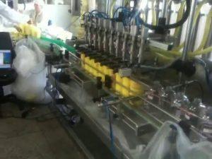 máquina de enchimento automática do champô dos bocais do mergulho do pistão