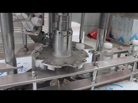 máquina tampando giratória automática da garrafa plástica da única cabeça