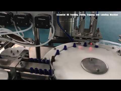 máquina de enchimento do perfume da garrafa de vidro, enchimento cosmético da loção
