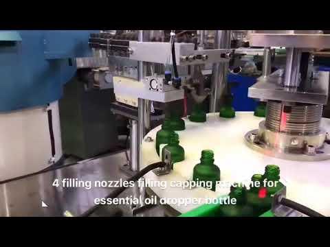 máquina de enchimento do óleo do cbd do óleo essencial da garrafa do conta-gotas