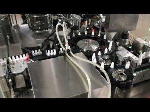 máquina de tamponamento de enchimento farmacêutico para colírio para pequenos frascos de 20 ml