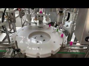 líquido de cigarro eletrônico automático, máquina de etiquetas tampando de tamponamento de enchimento de óleo cbd